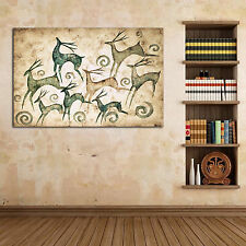 Framed Canvas prints, Deer canvas, Treasure Deer, Fa Cai Deer, Home wall decor