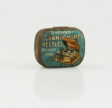 Vintage EMBASSY 'Medium Tone' Gramophone Needle Tin (V109)