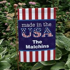 Personalized American Pride Garden Flag Made in America Flag Banner Home Decor