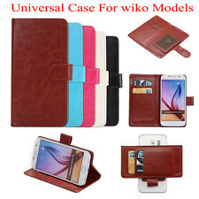 Universal PU Leather Flip Stand Case Cover Suction Cups For wiko Models