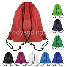 Portable Sport Backpack Drawstring Bag Book Shoes Swimming Gym Pouch Tote Bag