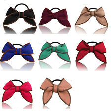 Satin Ribbon Hair Rope Holder Scrunchie Ponytail Bow Hair Accessories Hairband