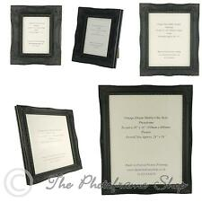 "Satin Black Shabby Chic Ornate Swept Vintage Picture Frames From  7"" x 5"" to 30"""