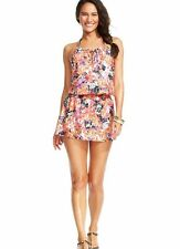 Kenneth Cole Floral Ditsy Halter Dress Swimsuit Cover Up Orange S M L XL NWT S3