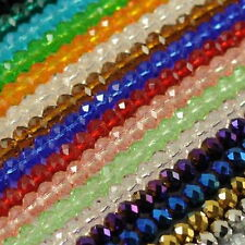 150pcs New Beautiful multicolor Swarovski crystal gem loose beads 3x4mm