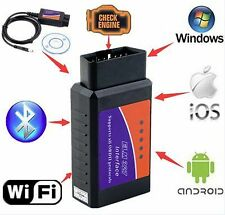 USB Interface ELM327 OBDII OBD2 Diagnostic Auto Car Scanner Bluetooth WIFI Wired