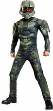 HALO Master Chief Classic Muscle Child Costume Soldier Video Game Halloween