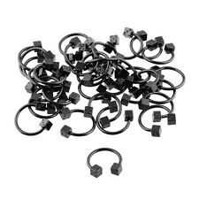 20pcs Stainless Steel Black Color Plated Dice Horseshoes Piercing Wholesale Lots