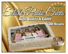 Print your photo into an edible cake topper custom logo sugar paper picture tops