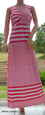 TG Yourstyle twist front pink stripe maxi dress Size 16  (1663)
