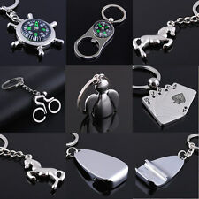 Men Creative Alloy Metal Keyfob Car Keyring Keychain Compass Key Chain Ring Gift