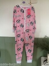 PRIMARK PUG ONESIE GIRLS PYJAMAS SLEEPSUIT PINK POLKA UK 4-5 YEARS