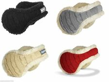Degrees By 180s Women's Cable Knit Adjustable Behind-the-Head Ear Warmers /Muffs