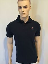 NWT HOLLISTER by Abercrombie Men's Polo Shirt Navy Blue M, L, XL Seagull