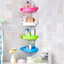 Bathroom Kitchen Layers Adjustable White Corner Shelves Storage Rack