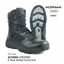 ALTAMA 8 inch LITESpeed Black Side Zip Tactical Combat Military Boot Style: 3454