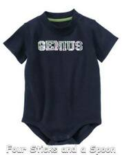 """NWT"" Gymboree Boy's Smart Little Guy Genuis One Piece 3-6 M, 12-18 M"