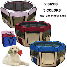 Large Dog Kennel Pet Fence Puppy Soft Playpen Exercise Pen Folding Crate Cage