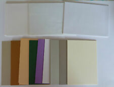 16 x Assorted Colours - Blank Cards and Envelopes - A6