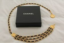 Chanel Chain Belt with Leather and Gold