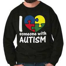I Love Someone With Autism Shirt Cute Autism Awareness Unisex Sweatshirt