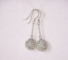 925 STERLING SILVER CRYSTAL  DANGLE EARRINGS  MADE WITH SWAROVSKI ELEMENTS