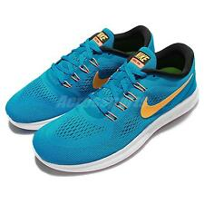 Nike Free RN Run Blue Yellow Mens Running Shoes Sneakers Free Run 831508-402