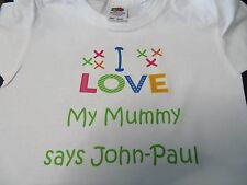 Kids / Childs I LOVE MY T-shirt -  Personalised FREE