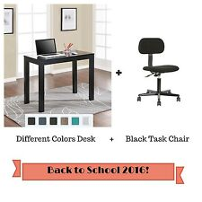 Computer Desk Task Chair Set Drawer Student Table Furniture Home Office