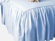 CHOOSE SIZE & DROP LENGTH SOLID SKYBLUE DUST RUFFLE BED SKIRT 100% COTTON 1000TC