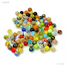 All 100+ Mixed Colour 16mm Glass Marbles