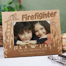 Personalized Firefighter Picture Frame Engraved Fireman Photo Frame Gift 3 sizes
