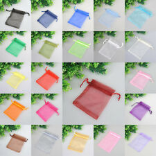 Organza Pouch 7x9cm Wedding Favor Jewelry Gift Packing Candy Bags 25/100