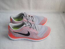 New!  Womens Nike Free 4.0 V5 Running Shoes  718412-006 GrayBright Crimson 12E
