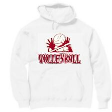 Pullover Hooded Sports Sweatshirt Volleyball Volley Ball
