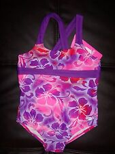 ~Speedo Girl 1pc CRISS CROSS Sport Swimsuit Bathing Suit FLORAL SIZE VARIETY NEW