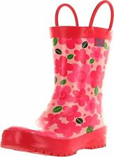 Pluie Pluie Girls New Pink Flower Fashion Rainboots