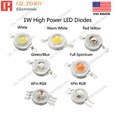 1W watts High Power SMD LED Chip Lamp Beads White Red Blue Green RGB Light