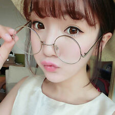 New Vintage Style Clear Lens Round Glasses Gold Metal Frame Unisex Eyeglasses