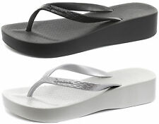 Ipanema Platform Womens Brasil Wedge Beach Flip Flops SIZES AND COLOURS 80129