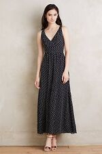 NWT Anthropologie Clipdot Maxi Dress by Eva Franco sz 0P Lovely & Charming DOTS