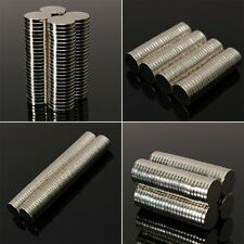 Lot 100/50pc N35 Disc Rare Earth Neodymium Super Strong Mini Round Magnets 8Size