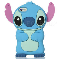 3D Cartoon Blue Lilo & Stitch Soft Silicone Shockproof Case Cover For Cell Phone