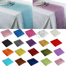 "1/5/10/20 PCS Wedding Sheer Organza Table Runner 12"" x 108"" Swag Bow Party Decor"
