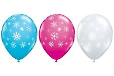 25 Qualatex Snowflakes & Sparkles Helium/Air Balloons Party Decorations 11""