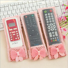 Bowknot Remote Control Dustproof Case Cover Bags TV Control Protector