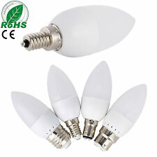 E12 E26 E27 E14 3W LED Chandelier Candle Light Bulb 2835SMD Cool/Warm White Lamp