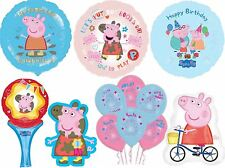 Peppa Pig Party Balloons Birthday Decorations Air Helium Supplies Latex Foil