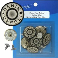 17 mm No-Sew Awesome Jean Tack 6 Buttons