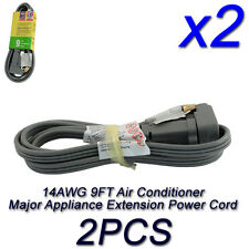 LOT 14 AWG 3 6 9 FT AC Air Conditioner Major Appliance Extension SPT3 Power Cord